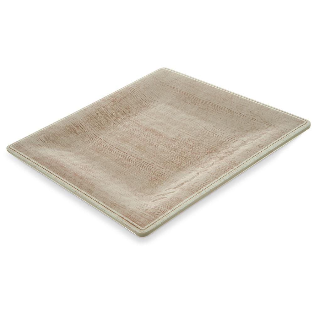 "Carlisle 6402370 8.5"" Square Dinner Plate - Melamine, Adobe"