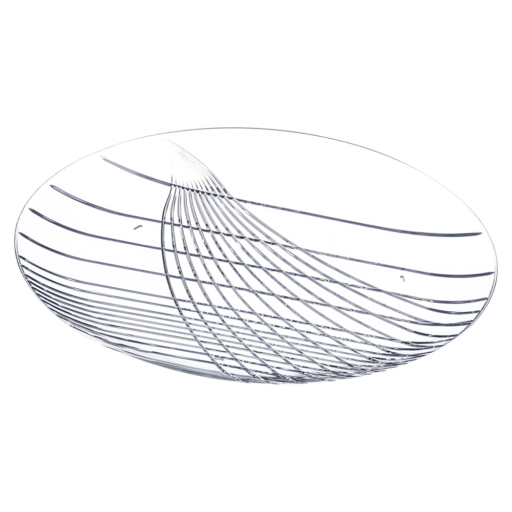 """Carlisle 641607 16"""" Round Serving Tray - Plastic, Clear"""