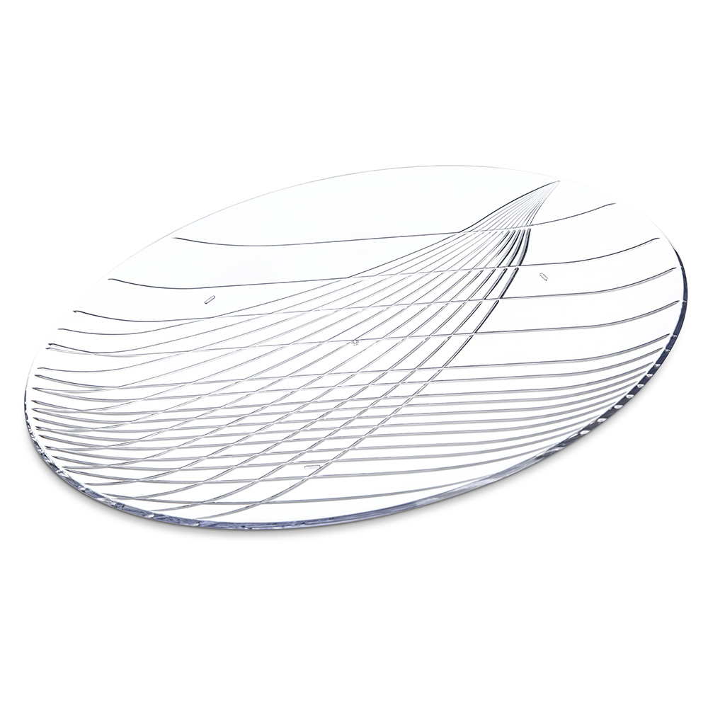 "Carlisle 641607 16"" Round Serving Tray - Plastic, Clear"
