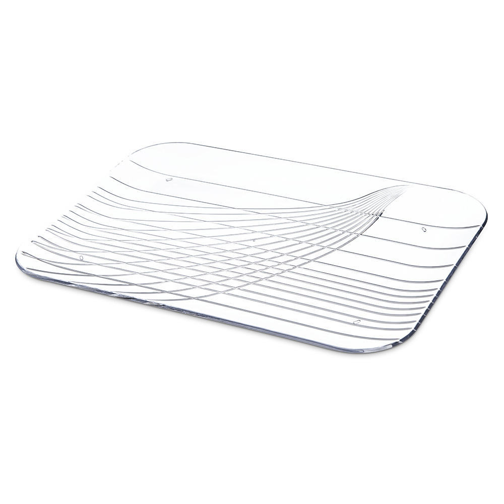 "Carlisle 645007 Rectangular Serving Tray - 15"" x 10.75"", Plastic, Clear"