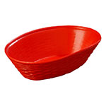 Carlisle 650405 WeaveWear Basket, 9 in Oval, Polypropylene, Red