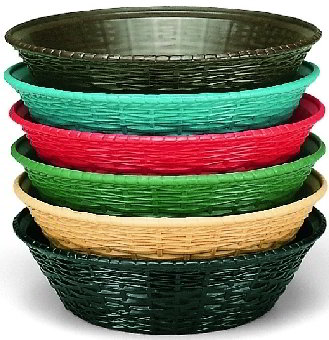 Carlisle 650409 WeaveWear Basket, 9 in Oval, Polypropylene, Green