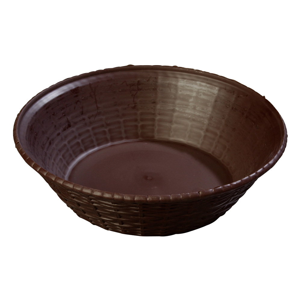 Carlisle 652401 WeaveWear Basket, 9 in, Round Polypropylene, Brown