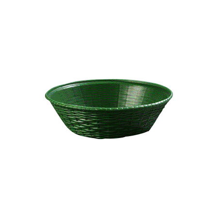 Carlisle 652409 WeaveWear Basket, 9 in, Round Polypropylene, Green