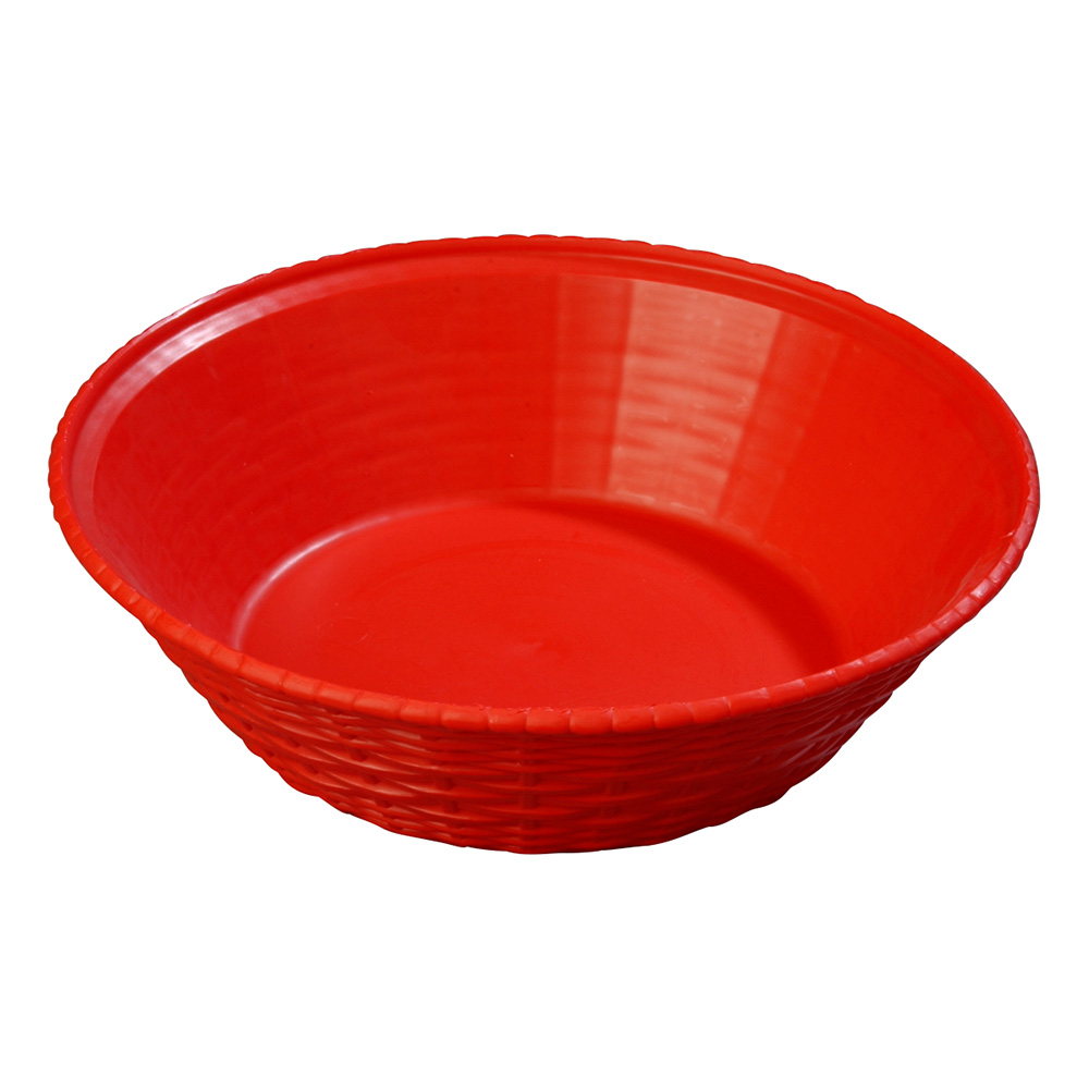 Carlisle 652405 WeaveWear Basket, 9 in, Round Polypropylene, Red