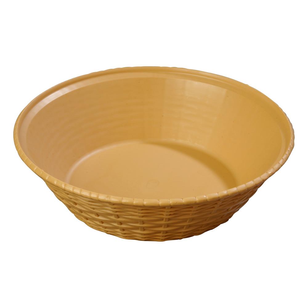 Carlisle 652467 WeaveWear Basket, 9 in, Round Polypropylene, Straw