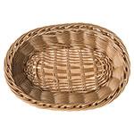 "Carlisle 655025 Oval Bread Basket - 9"" x 6.25"" x 2.5"", Polypropylene, Caramel"