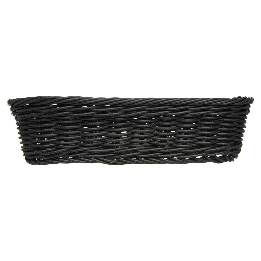"Carlisle 655203 Rectangular Bread Basket - 11.5"" x 8.5"" x 2.75"", Polypropylene, Black"