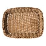 "Carlisle 655225 Rectangular Bread Basket - 11.5"" x 8.5"" x 2.75"", Polypropylene, Caramel"