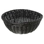 "Carlisle 655303 9"" Round Bread Basket - Polypropylene, Black"