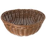"Carlisle 6553-25 9"" Round Woven Basket - Polypropylene, Caramel"