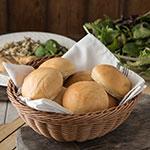 "Carlisle 655325 9"" Round Bread Basket - Polypropylene, Caramel"