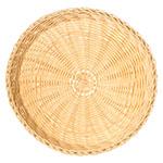 "Carlisle 655406 11"" Round Bread Basket - Polypropylene, Oatmeal"