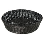 "Carlisle 655503 11"" Round Bread Basket - Polypropylene, Black"