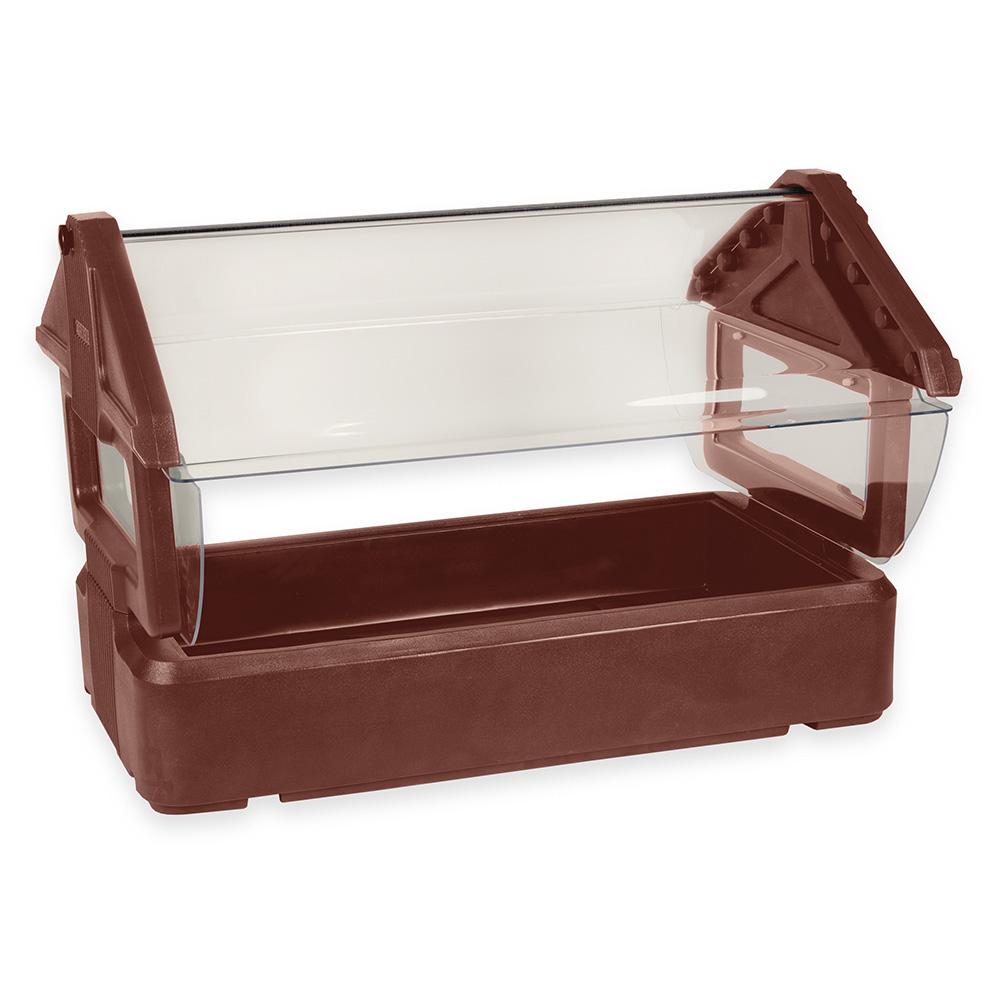 Carlisle 660001 Table Top Food Bar - (3)Full-Size Pan Capacity, Polyethylene, Brown