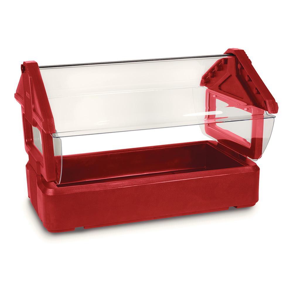 Carlisle 660005 Table Top Food Bar - (3)Full-Size Pan Capacity, Polyethylene, Red