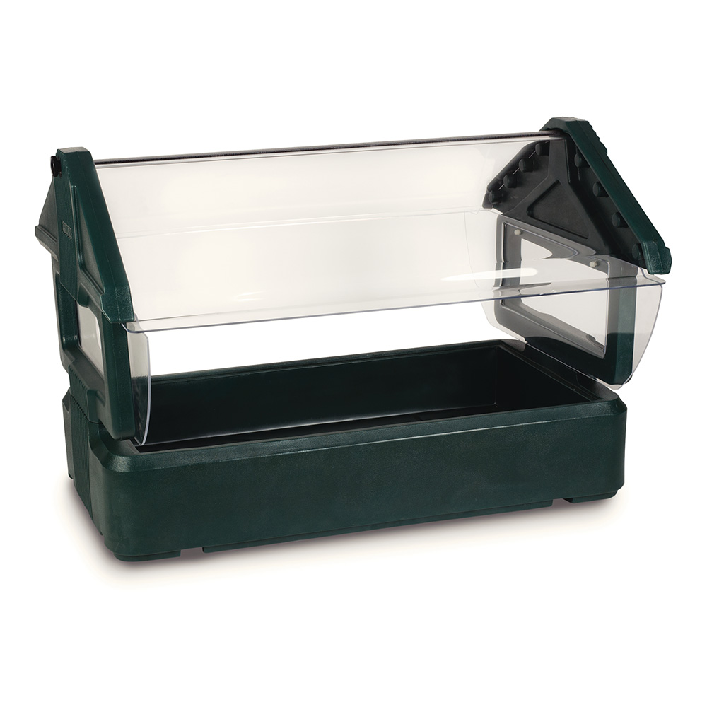 Carlisle 660008 Table Top Food Bar - (3)Full-Size Pan Capacity, Polyethylene, Forest Green