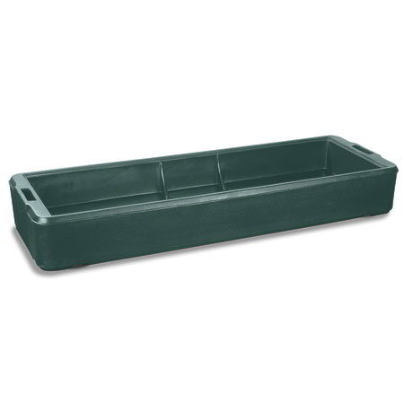 Carlisle 660308 6' Food Bar Basin - Polyethylene, Forest Green