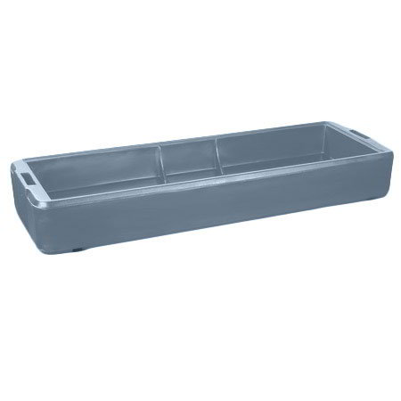 Carlisle 660359 6' Food Bar Basin - Polyethylene, Slate Blue