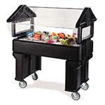 Carlisle 660503 Portable Food Bar - (3)Full-Size Pan Capacity, Polyethylene, Black