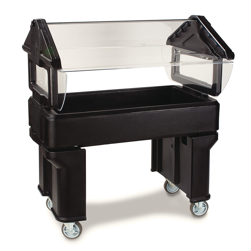 Carlisle 660503 Portable Food Bar - (3)Full-Size Pan Capacity, Polyethylene, Black