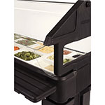 Carlisle 660603 Portable Food Bar - (5)Full-Size Pan Capacity, Polyethylene, Black