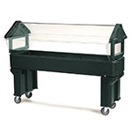 Carlisle 660608 Portable Food Bar - (5)Full-Size Pan Capacity, Polyethylene, Forest Green