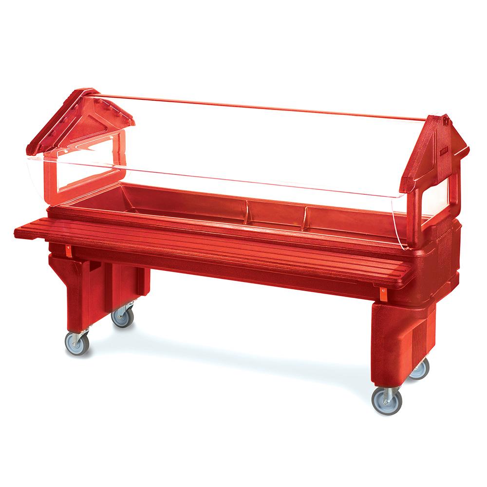 Carlisle 660805 Youth Portable Food Bar - (5)Full-Size Pan Capacity, Polyethylene, Red