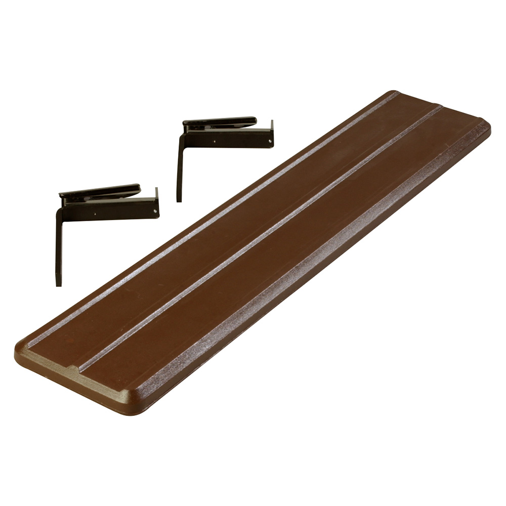 "Carlisle 662001 Food Bar Tray Slide - Drop Down, 44x9x2"" Brown"