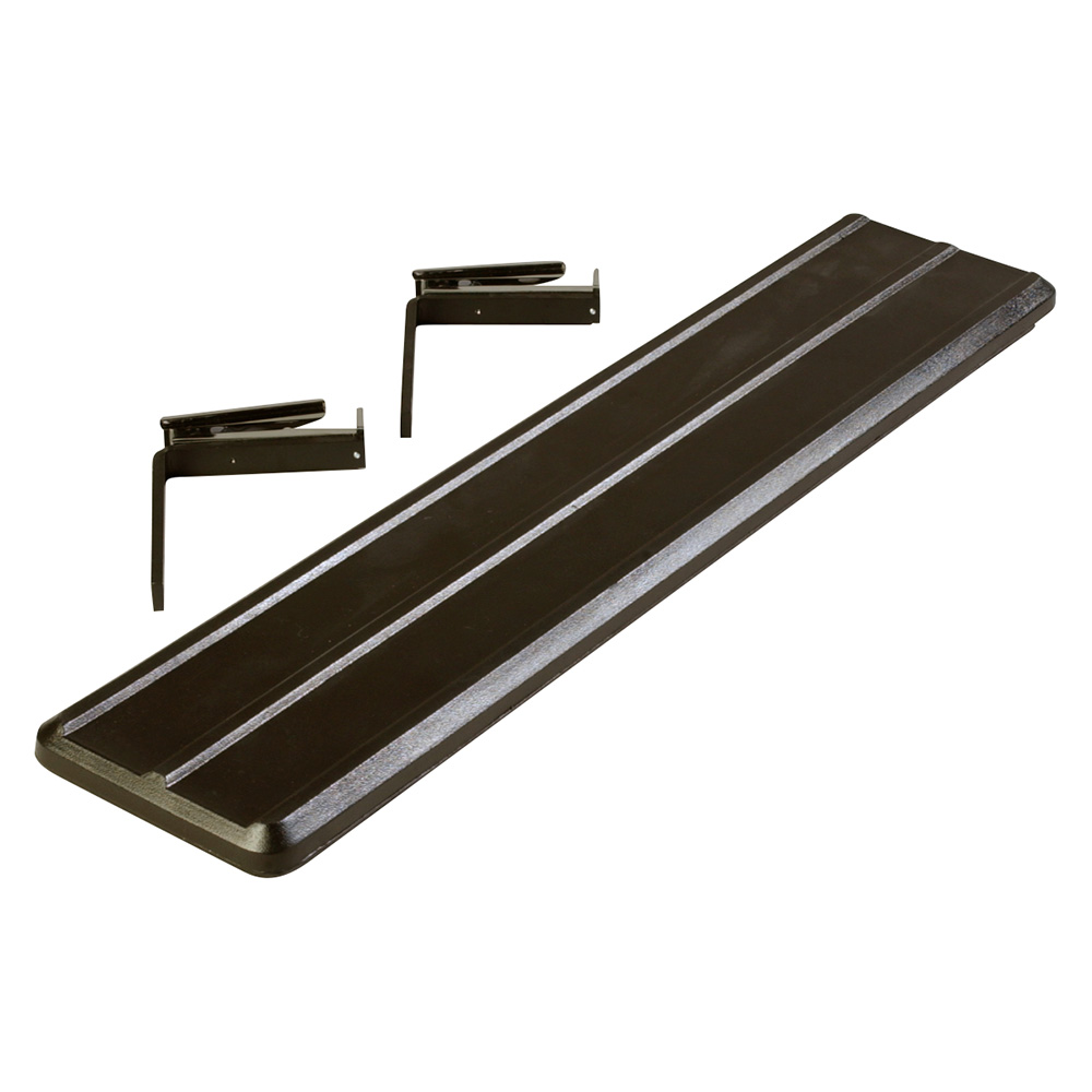 "Carlisle 662003 Food Bar Tray Slide - Drop Down, 44x9x2"" Black"