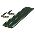 "Carlisle 662008 Food Bar Tray Slide - Drop Down, 44x9x2"" Forest Green"
