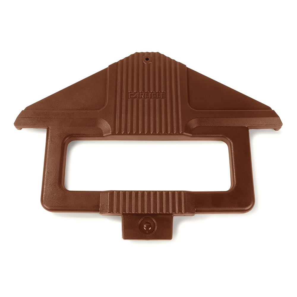 Carlisle 668401 Sneeze Guard Post - SixStar Food Bar, Brown
