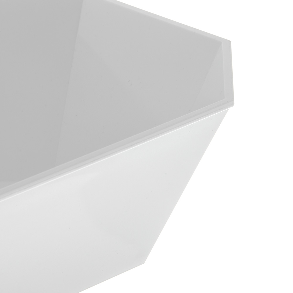 Carlisle 671302 Octagonal Deli Crock w/ 5-lb Capacity, Plastic, White