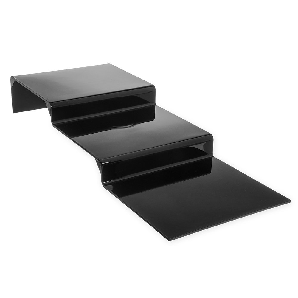 "Carlisle 684303 11-3/4"" Display Riser - 3-Step, Polycarbonate, Black"
