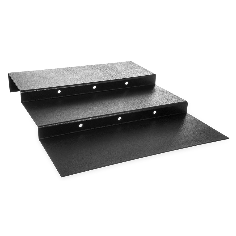 Carlisle 686303 23.5-in 3-Step Display Riser, Black