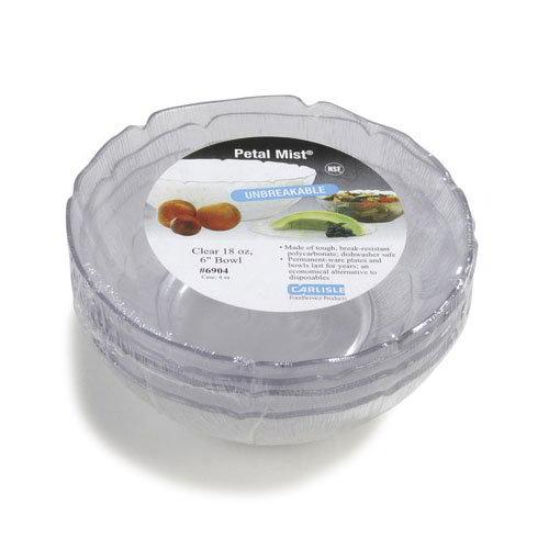 Carlisle 6904-807 18-oz Petal Mist Bowl - Polycarbonate, Clear