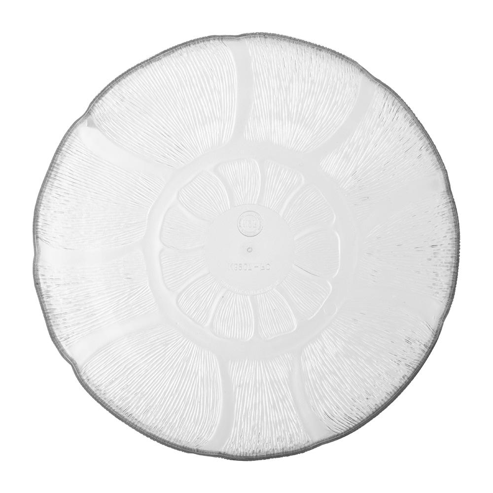 "Carlisle 690707 8"" Round Salad Plate w/ 23.9-oz Capacity, Polycarbonate, Clear"