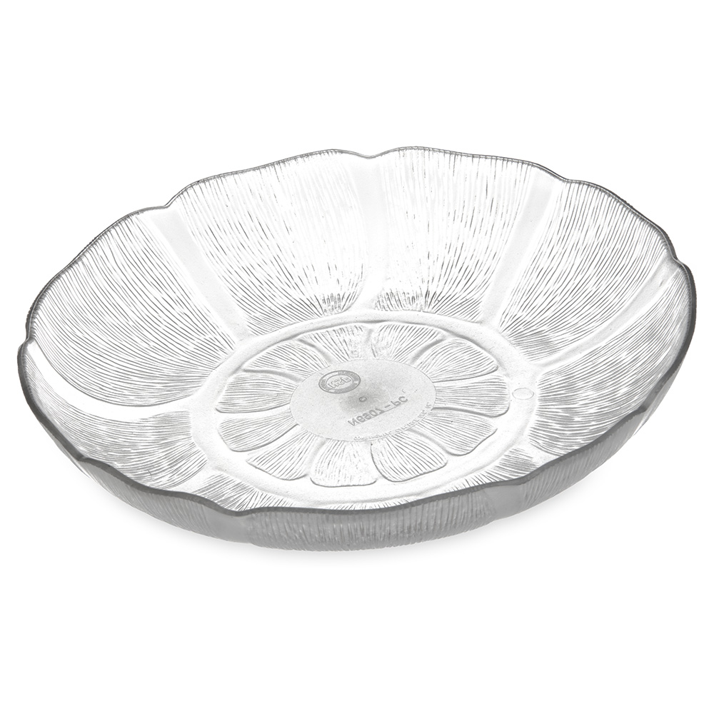 Carlisle 690707 Petal Mist Salad Plate - 8 in - 24oz - Clear