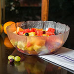 "Carlisle 691407 12"" Round Serving Bowl w/ 5.7-qt Capacity, Polycarbonate, Clear"