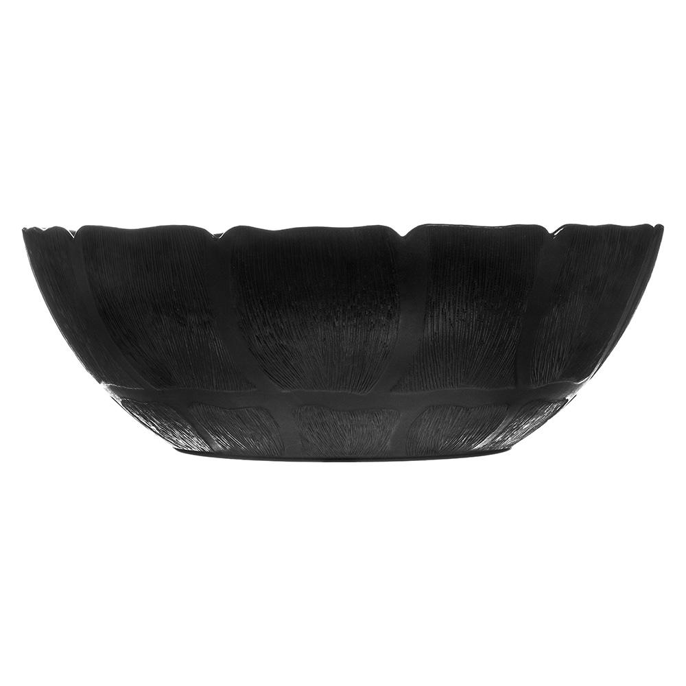 "Carlisle 691703 15"" Round Serving Bowl w/ 9.8-qt Capacity, Polycarbonate, Black"