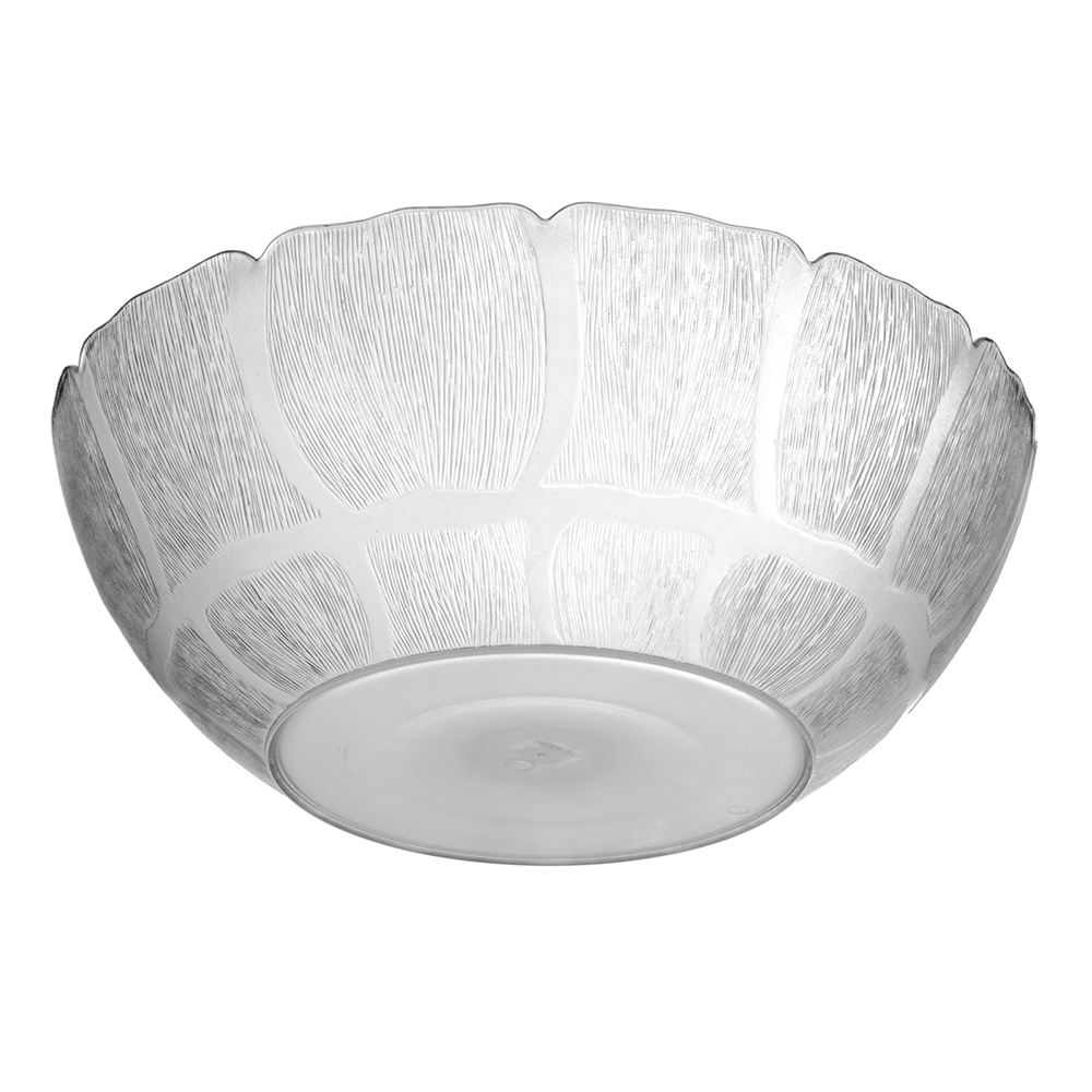 "Carlisle 691707 15"" Round Serving Bowl w/ 9.8-qt Capacity, Polycarbonate, Clear"