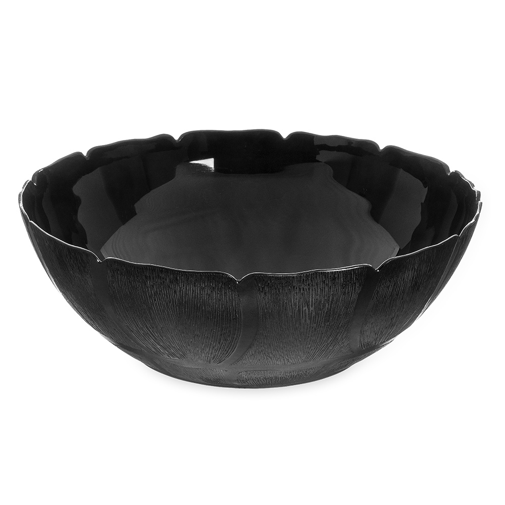 "Carlisle 691903 18"" Round Serving Bowl w/ 17.2-qt Capacity, Polycarbonate, Black"