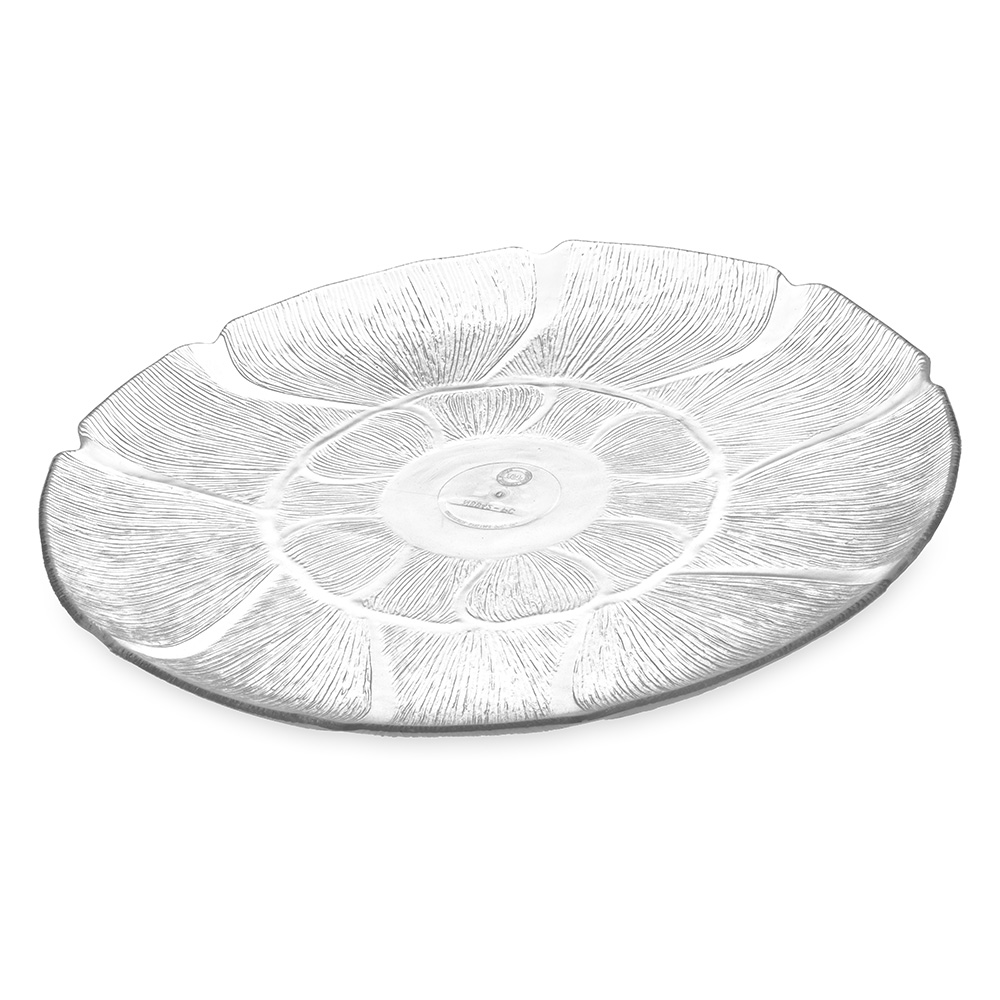 Carlisle 694207 Petal Mist Serving Plate - 13 in - Clear