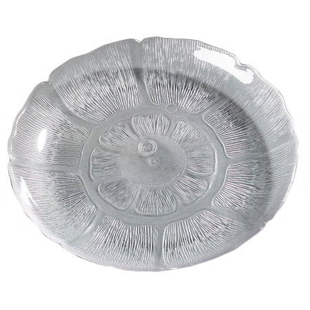 """Carlisle 6954-807 7-1/2"""" Petal Mist Soup/Salad Plate - Polycarbonate, Clear"""