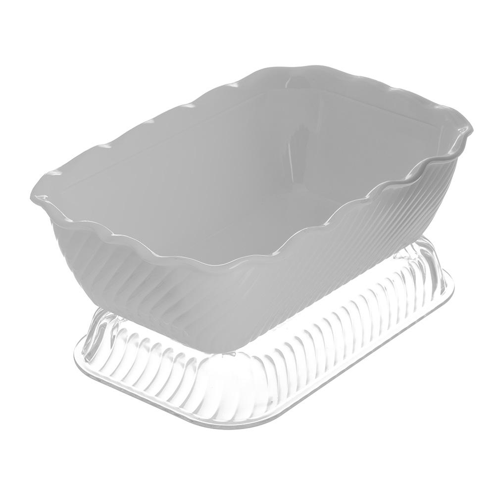 Carlisle 696302 Rectangular Salad Crock w/ 5-lb Capacity, Plastic, White