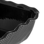 Carlisle 696603 Rectangular Salad Crock w/ 10-lb Capacity, Plastic, Black