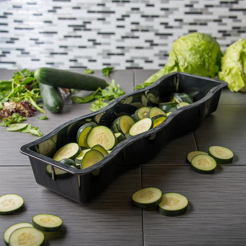 Carlisle 698203 Half-Size Long Food Pan - Polycarbonate, Black