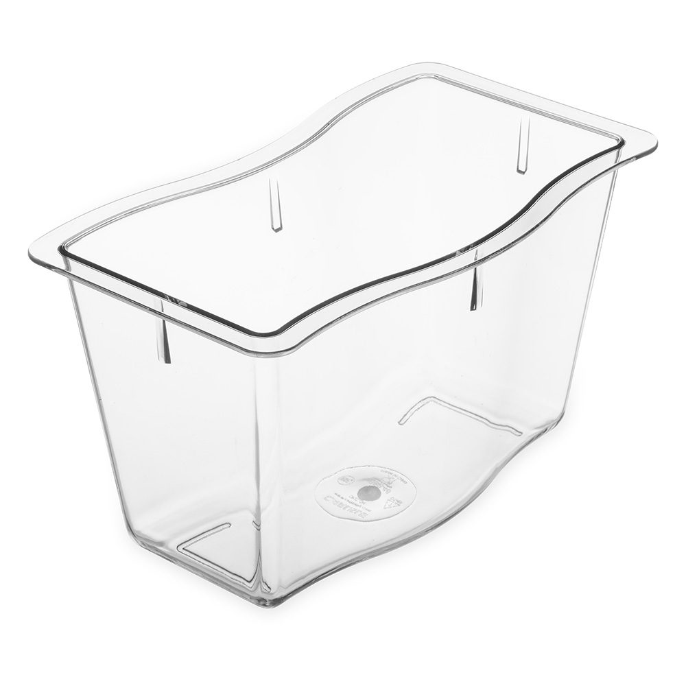 Carlisle 6984607 Half Size Food Pan - Polycarbonate, Clear