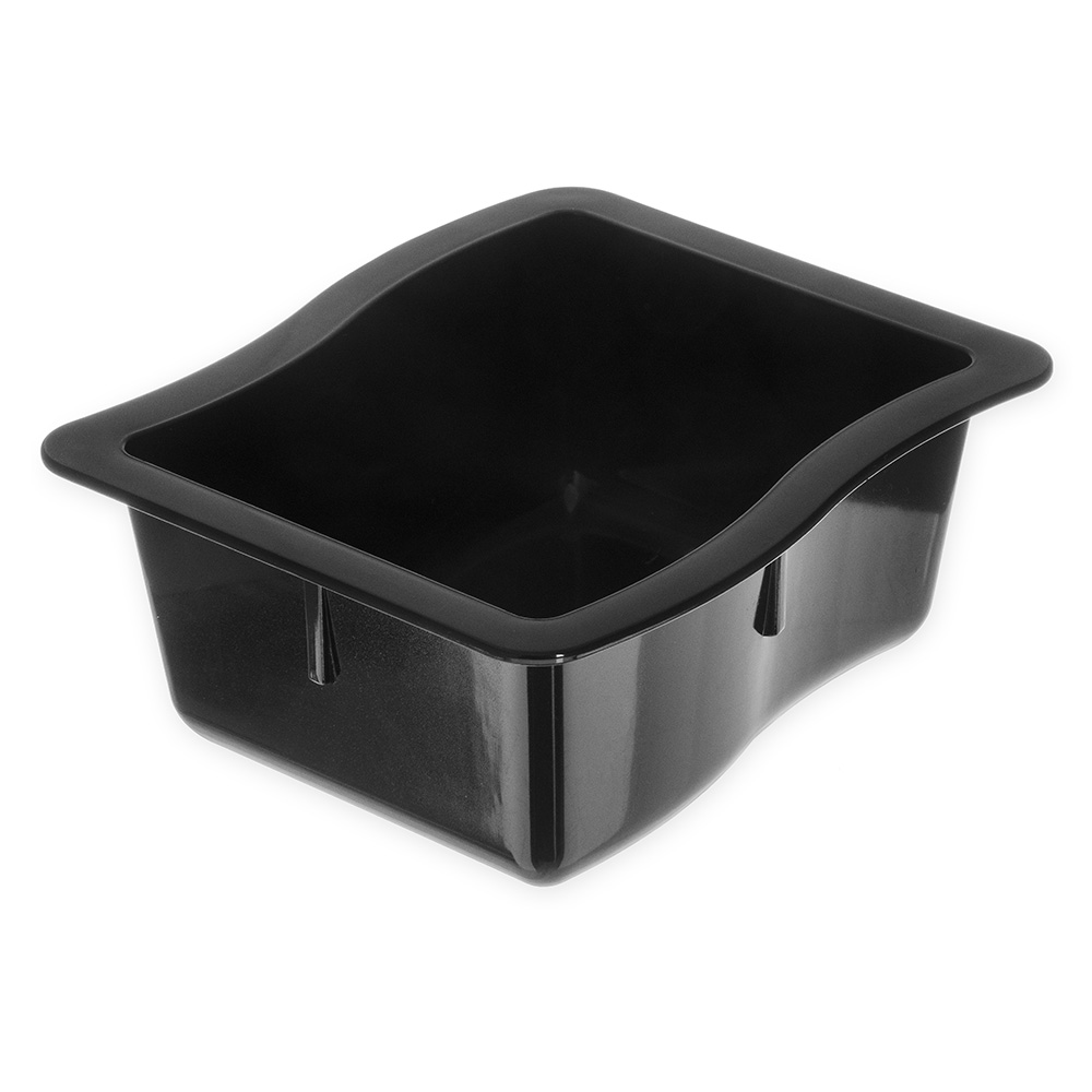 "Carlisle 6986-03 1/3 Size Modular Displayware Pan - 2-1/2"" D, Polycarbonate, Black"