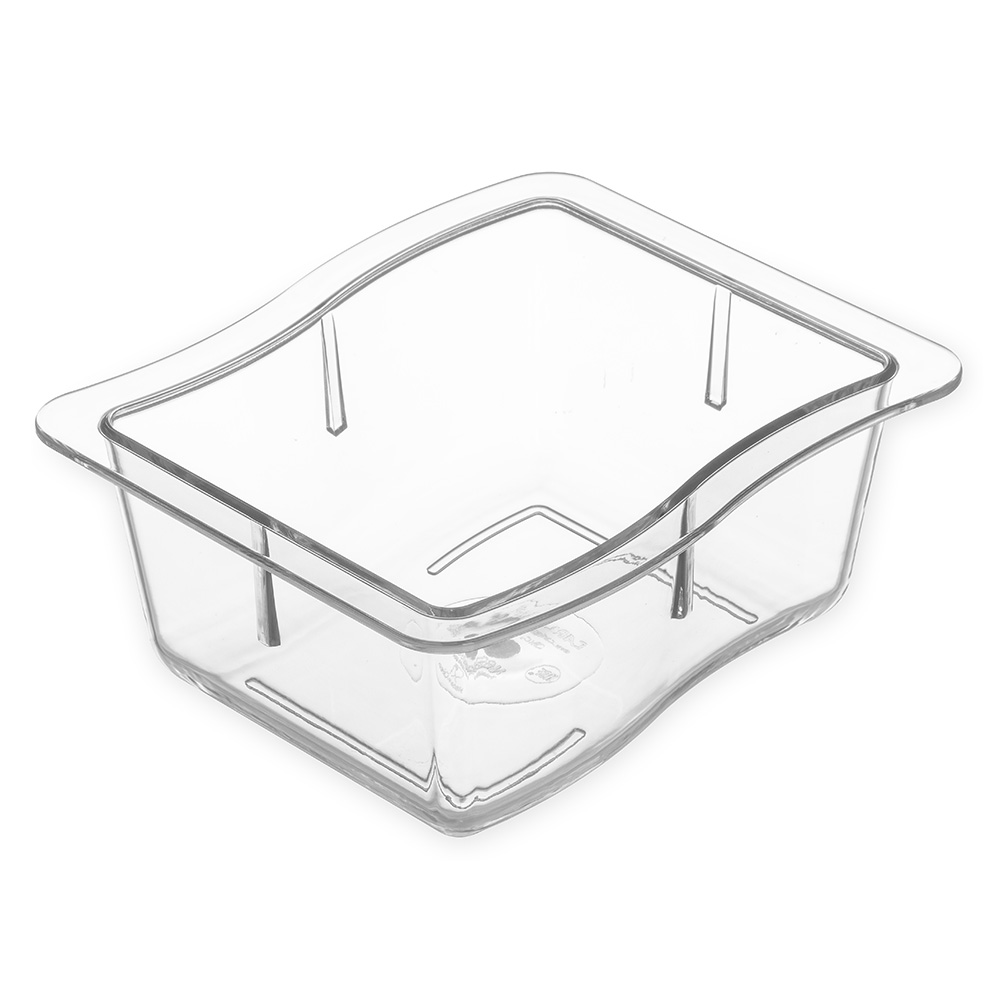 "Carlisle 6986-07 1/3 Size Modular Displayware Pan - 2-1/2"" D, Polycarbonate, Clear"